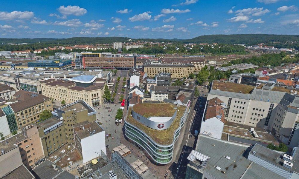 360 Aerial view Bahnhofstrasse-pedestrian zone
