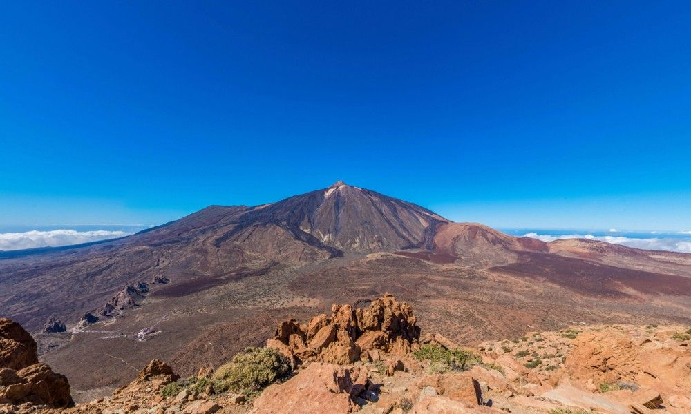 View of the Pico del Teide from Mount Guajara
