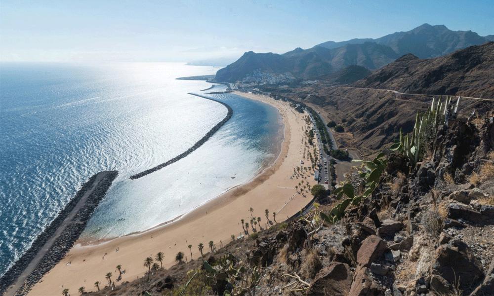 Playa Teresitas, golden sandy beach in the northeast of Tenerife